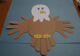 bald eagle template handprint bald eagle craft all kids network