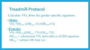 16 treadmill protocol calculate
