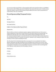 Sample Letter For Event Proposal Event Proposal Letter Threeroses Us