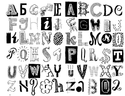 Cool Letter Designs Hand Drawn Font Shaded Letters And Decorations 29198