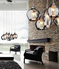 five light cer pendant with smoked