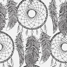 Drawn Dream Catchers Seamless Pattern With Hand Drawn Dream Catchers In Line Art 62