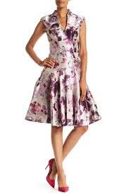 Alton Gray Size Chart Floral Fit Flare Dress