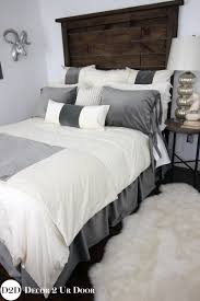 ivory grey velvet custom apartment bedding collection