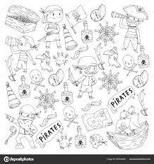 Libro Da Colorare Con I Pirati Priorità Bassa Partito Del Pirata