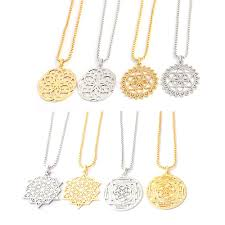 whole flower of life charm necklace round gold silver necklaces pendants mandala jewelry for women mothers day gift mens pendant necklace photo pendant