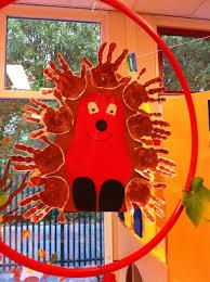 Gemeinschafsbild Igel Kita Kindergarten Kindergarten Crafts Und