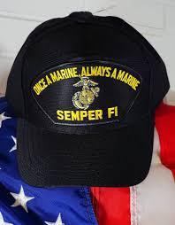 Once A Marine Always A Marine Marine Once A Marine Always A Marine Semper Fi Emblematic Baseball Cap