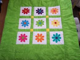 Hand Crafted Gerber Daisy Quilt by Quilts By Sherry | CustomMade.com & Custom Made Gerber Daisy Quilt Adamdwight.com