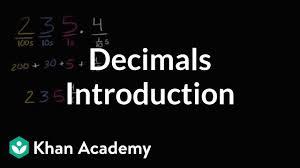Decimal Place Value Video Decimals Khan Academy