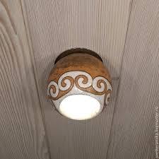 ceramic spot ceiling lamp curls on the