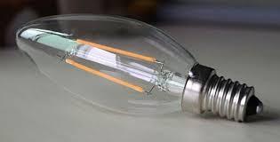china 120v led chandelier light bulbs torpedo bullet shape led dimmable filament bulb supplier