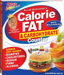 Food Calorie Book Allan Borusheks Calorie Fat And Carbohydrate Counter 2018 Books