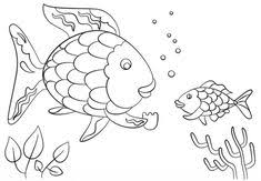 printable rainbow fish coloring page with template printable rainbow fish coloring page with template ideas gallery free coloring pages for kids