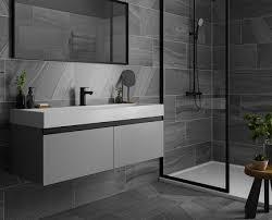 grey charcoal grey bathroom tiles design