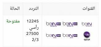 تردد قناة بي ان سبورت المفتوحة على النايل سات