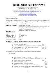 Resume Board Member Academic Resume