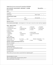 Sample Incident Report Form 9 Examples In Word Pdf