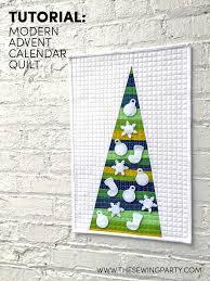 Tutorial: Modern Advent Calendar Quilt | The Sewing Party & Modern Advent Calendar Quilt Adamdwight.com