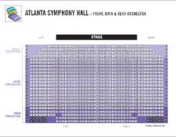 Atlanta Symphony Hall Seating Chart Awesome Atlanta Symphony