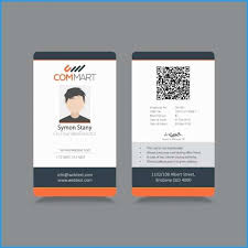 Download Sample Company New Free Example Id Template Badge Format Templates Design
