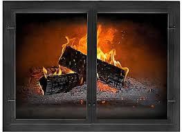 custom fireplace door glass fireplace doors custom