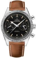 omega watch strap shopstyle uk omega speedmaster 57 men stainless steel brown strap watch