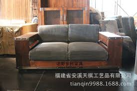 Wooden Sofa Loft Brown Houstonn 1921 American Country Style Washing Bouding  Ningbu China Mainland Tianqin