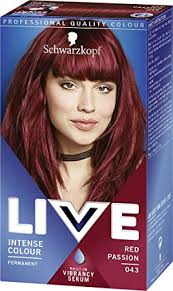 Schwarzkopf Live Intense Colour Permanent 043 Red Passion Pack Of 3