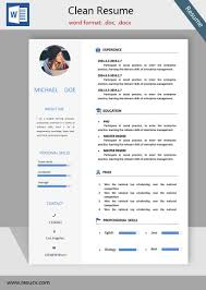 A Simple Clean Resume Template Cv Templates College Student Resume