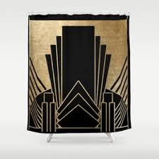 Artistic shower curtains Abstract Art Deco Design Shower Curtain Society6 Art Deco Shower Curtains Society6