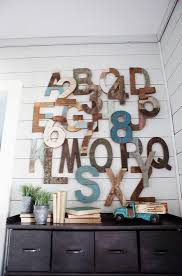 view in gallery wooden letters create a modern rustic touch