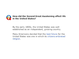a religious awakening ppt video online  how did the second great awakening affect life in the united states