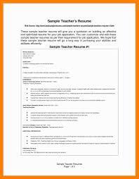 Sample Resume For Teaching 9 10 Samples Of Resumes For Teachers Archiefsuriname Com