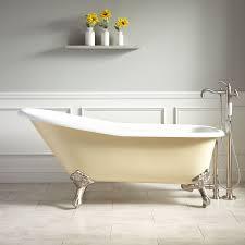Goodwin Cast Iron Clawfoot Tub Imperial Feet Light Yellow - Clawfoot tub bathroom