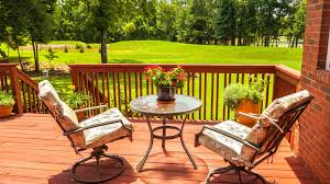 patio furniture small space small patio table and chairs park wooden chair table vases flower grass plant fence