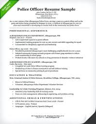 Police Officer Resume Template Gorgeous Police Officer Job Resume Examples Samples Personal Law Sample