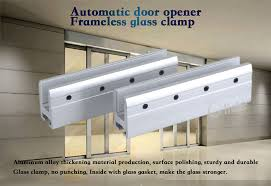 automatic frameless glass door hanger automatic frameless door glass clamp size
