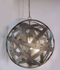galvanized lighting fixtures. orbits urban chandelier recycled wine barrel metal hoops galvanized steel bands ceiling light fixture lighting fixtures i