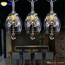 wine glass chandelier crystal led wineglass chandelier modern creative spiral suspension lighting restaurant villa lobby hanging