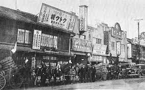 1891年明治24年開業の山陽鉄道福山駅駅前商店街昭和初期の様子