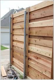 horizontal wood fence with metal posts. Exellent Horizontal Metal Posts For Horizontal Wood Fence  With R