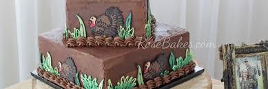 Turkey Hunting Grooms Cake Rose Bakes