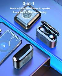 3 in 1 mini Bluetooth Earbuds/Bluetooth speaker/power bank F9 TWS Bluetooth  5.0 Headphones Touch control HIFI Sports Earphones|Bluetooth Earphones &  Headphones