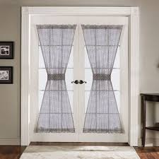 Sunshiny Front Door Window Door Sheers Half Door Curtain Panel Door Curtains  Panels Entry Door Also