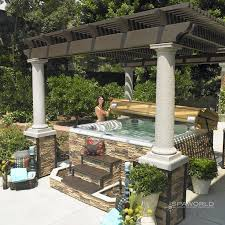 Hot Tub Backyard Ideas Plans Cool Design Ideas