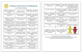 52 Simple Bible Verses For Kids Easy To Memorize Printable Pdf