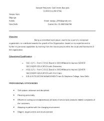 Resume Format Template Albertogimenob Me