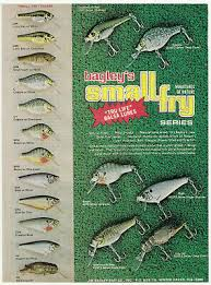 1979 Vintage Bagley Small Fry Old Fishing Lure Color Chart Original Print Ad A2 Ebay