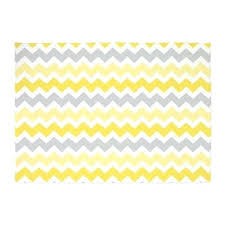 yellow and white area rug gray grey chevron